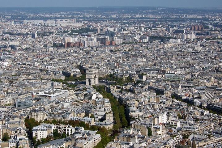 Paryż, Wieża Eiffla - widok