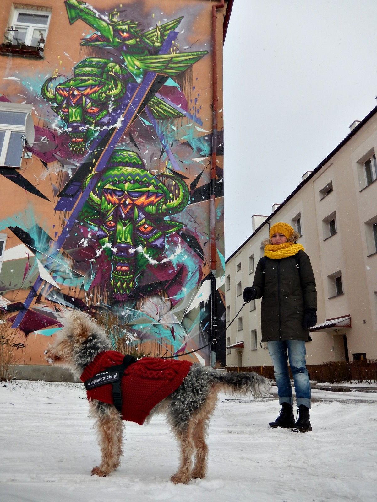białystok mural smok