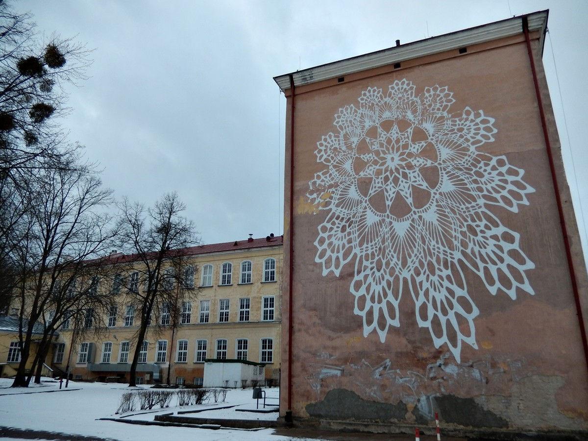 koronka mural białystok