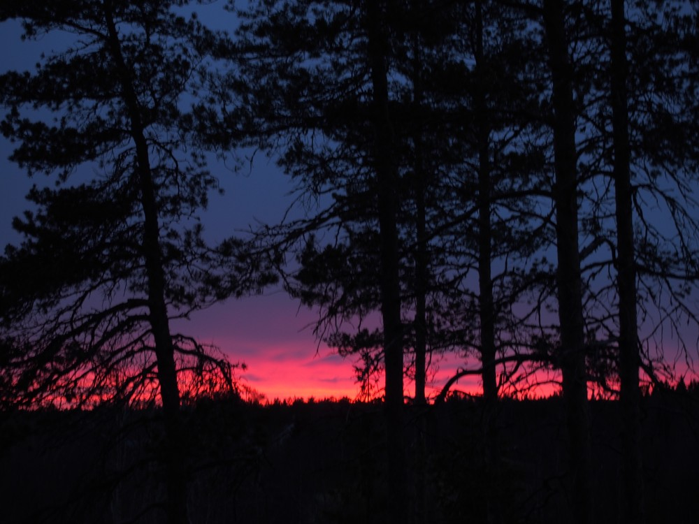 Zachód słońca na Lufta Camping