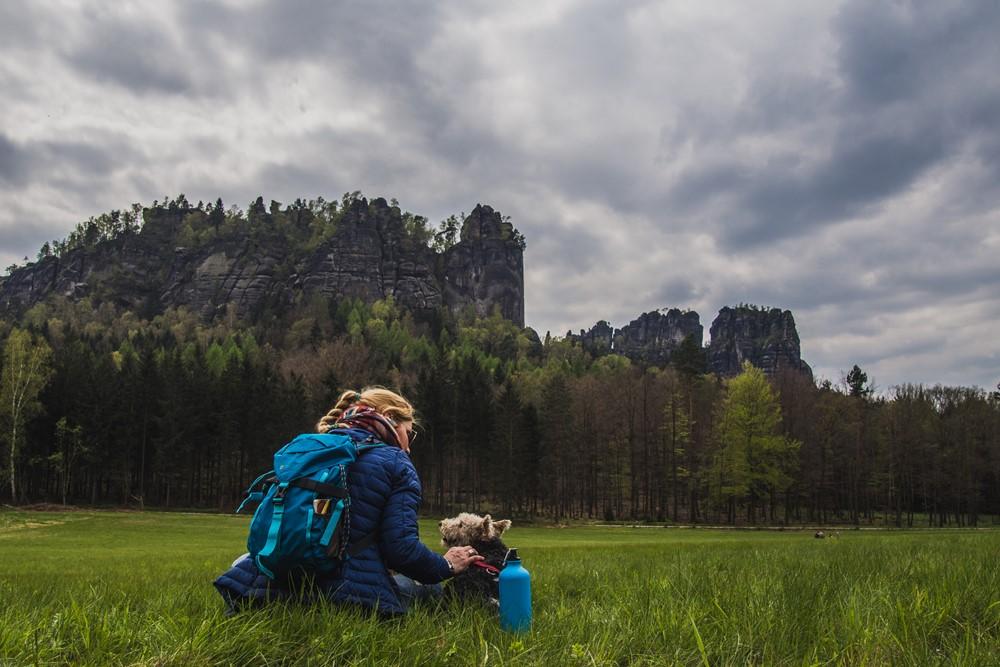 Zwiedzanie Saskiej Szwajcarii z psem