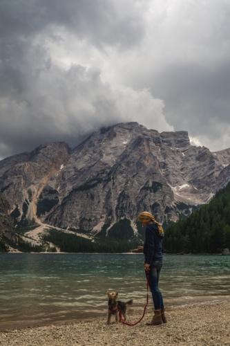 jezioro di braies i inne jeziora w Dolomitach