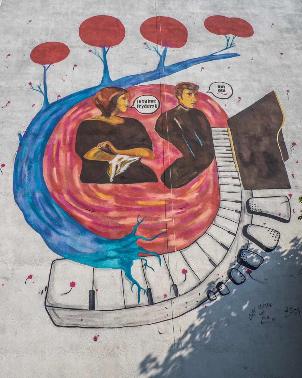 murale na zaspie