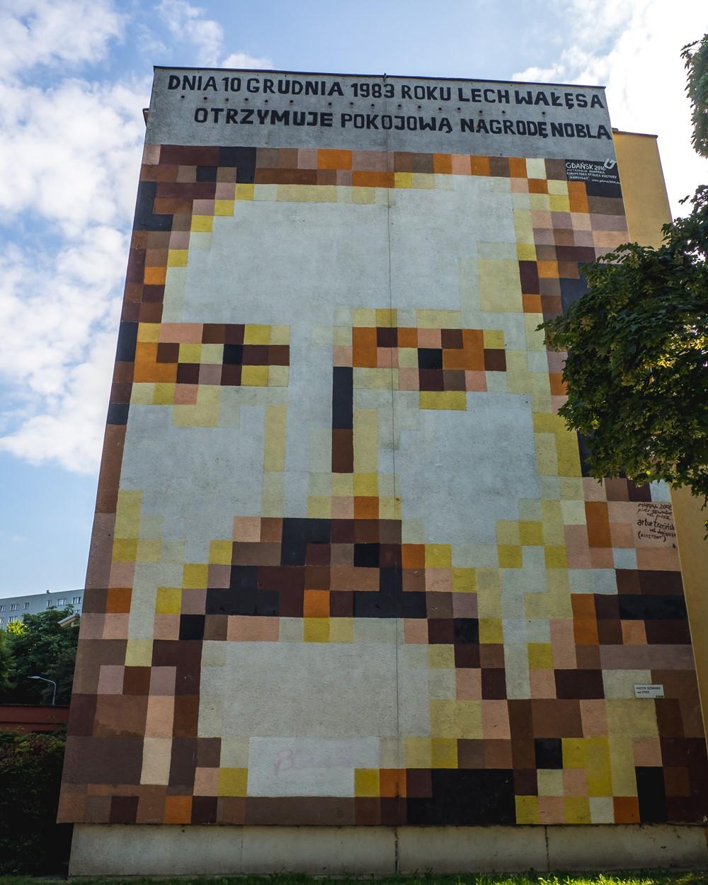 murale na zaspie wałęsa