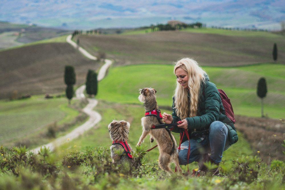 Toskania z psem